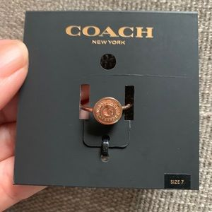 New rose gold Coach ring size 7